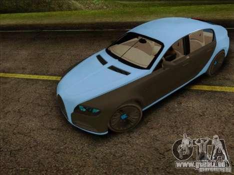 Bugatti Galibier 16c pour GTA San Andreas sur la vue arrière gauche