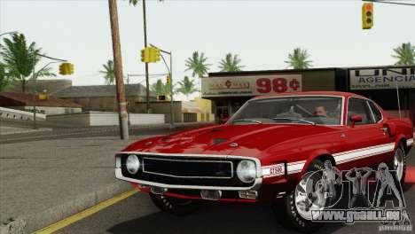 Shelby GT500 428 Cobra Jet 1969 pour GTA San Andreas vue arrière