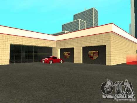 Salon de l'automobile Porsche pour GTA San Andreas cinquième écran