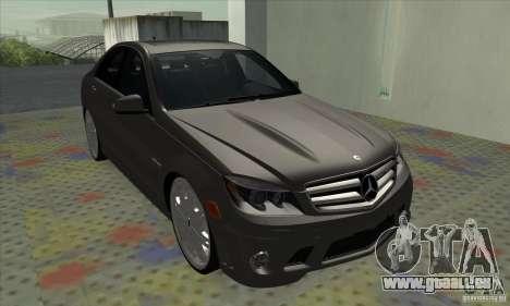 Mercedes-Benz C63 Dub für GTA San Andreas linke Ansicht