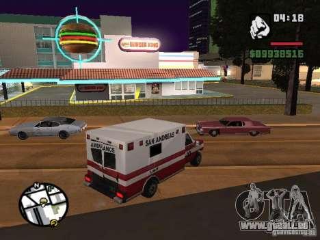 Nouveaux restaurants de textures pour GTA San Andreas cinquième écran