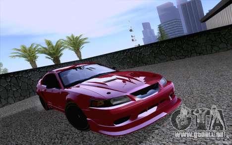 Ford Mustang SVT Cobra 2003 Black wheels pour GTA San Andreas laissé vue