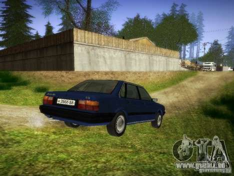 Audi 80 1987 V1.0 für GTA San Andreas zurück linke Ansicht