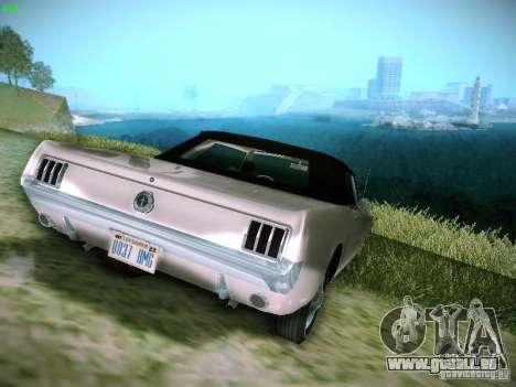 Ford Mustang Convertible 1964 pour GTA San Andreas laissé vue