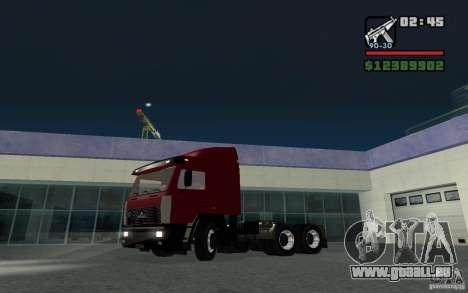 MAZ-643068 pour GTA San Andreas