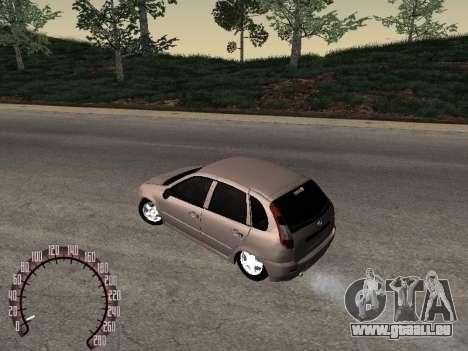 LADA 1119 pour GTA San Andreas laissé vue