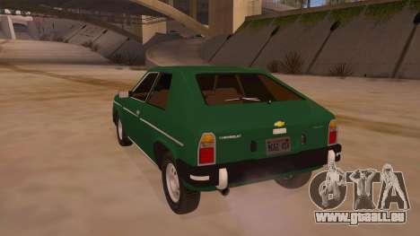 Chevrolet Chevette 1976 für GTA San Andreas zurück linke Ansicht