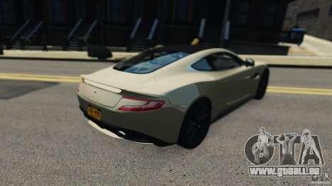 Aston Martin Vanquish 2013 pour GTA 4 Vue arrière de la gauche