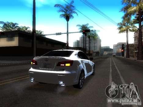 Lexus IS F pour GTA San Andreas vue intérieure