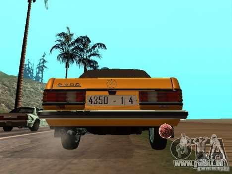 Mercedes-Benz 240D Taxi für GTA San Andreas rechten Ansicht