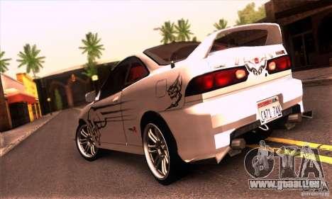 Honda Integra Tunable pour GTA San Andreas vue intérieure