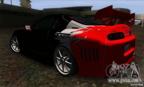 Toyota Supra Tunable für GTA San Andreas Innenansicht