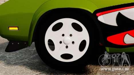 Dodge Charger RT SharkWide pour GTA 4 Vue arrière