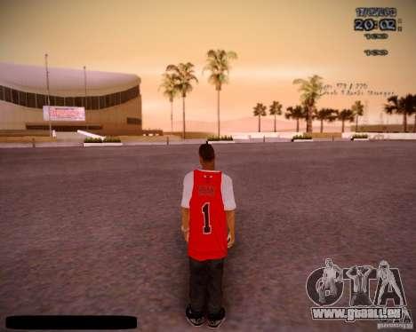 Peau Chicago Bulls pour GTA San Andreas troisième écran