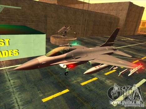 F-16C Fighting Falcon pour GTA San Andreas laissé vue
