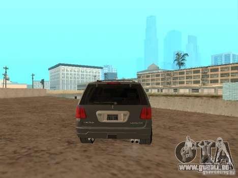 Lincoln Navigator 2004 pour GTA San Andreas sur la vue arrière gauche