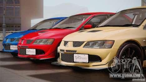 Mitsubishi Lancer Evolution VIII MR Edition pour GTA San Andreas