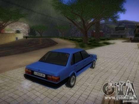 Audi 80 1987 V1.0 pour GTA San Andreas vue intérieure