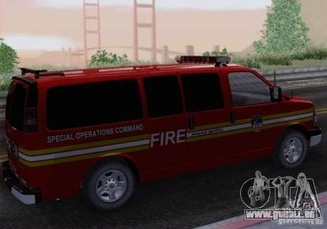 Chevrolet Express Special Operations Command für GTA San Andreas linke Ansicht