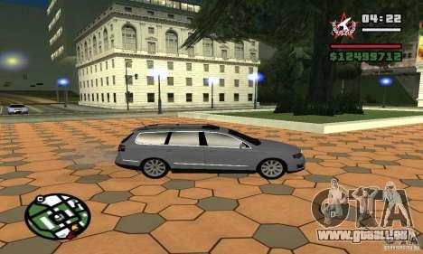Volkswagen Passat B6 Variant für GTA San Andreas zurück linke Ansicht