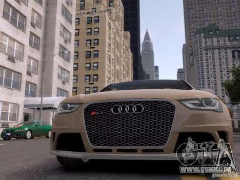 Audi RS4 Avant 2013 pour GTA 4 vue de dessus