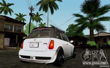 Mini Cooper S Tuned für GTA San Andreas rechten Ansicht
