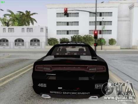 Dodge Charger 2012 Police für GTA San Andreas Unteransicht
