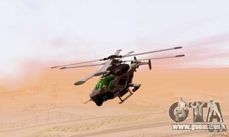AH-2 Сrysis 50 C.E.L.L. Hubschrauber für GTA San Andreas Rückansicht