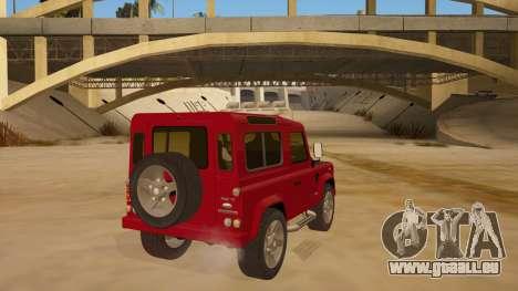 Land Rover Defender für GTA San Andreas rechten Ansicht