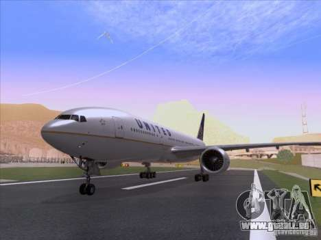 Boeing 777-200 United Airlines für GTA San Andreas