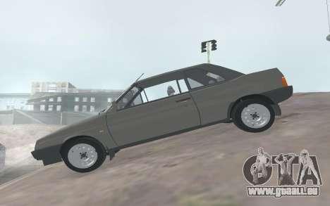 VAZ 2108 Natasha pour GTA San Andreas laissé vue