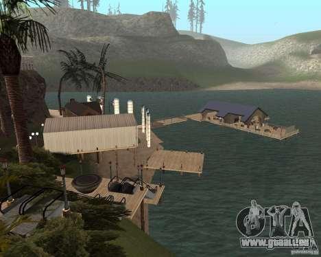 Villa in der Fischerei-Lagune für GTA San Andreas her Screenshot