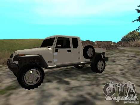Jeep Gladiator pour GTA San Andreas laissé vue