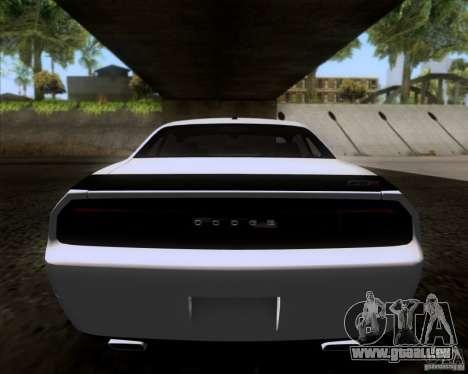 Dodge Challenger SRT8 2009 pour GTA San Andreas vue de droite