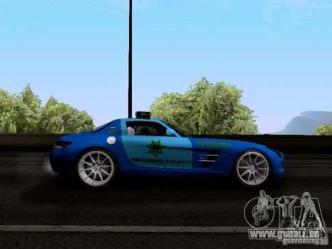 Mercedes-Benz SLS AMG Blue SCPD pour GTA San Andreas vue arrière