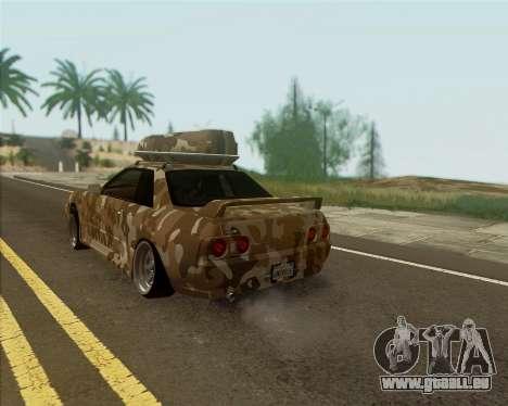 Nissan Skyline R33 Army pour GTA San Andreas laissé vue