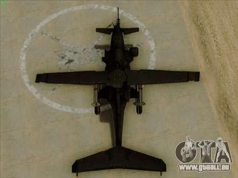 RQ-50 Hammerhead pour GTA San Andreas vue de droite