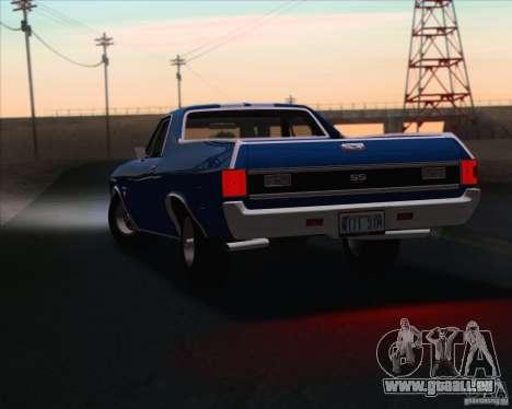 Chevrolet EL Camino SS 70 pour GTA San Andreas vue de côté