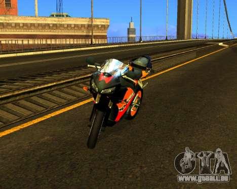 HONDA CBR 1000RR Repsol für GTA San Andreas Innenansicht