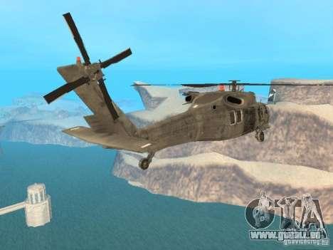 Die UH-60 von COD MW3 für GTA San Andreas linke Ansicht