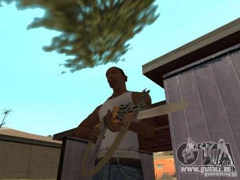 AK 47 avec un HD de baïonnette-couteau pour GTA San Andreas deuxième écran