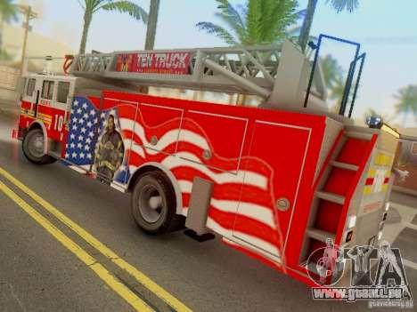 Seagrave FDNY Ladder 10 für GTA San Andreas linke Ansicht