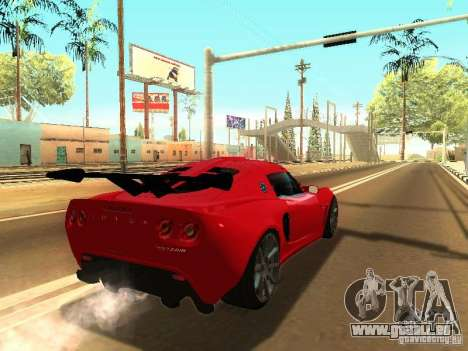 Lotus Exige 240R pour GTA San Andreas sur la vue arrière gauche