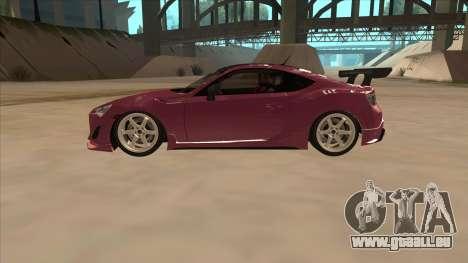 Toyota GT86 Drift 2013 pour GTA San Andreas laissé vue