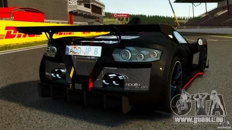 Gumpert Apollo Enraged 2012 pour GTA 4 Vue arrière de la gauche