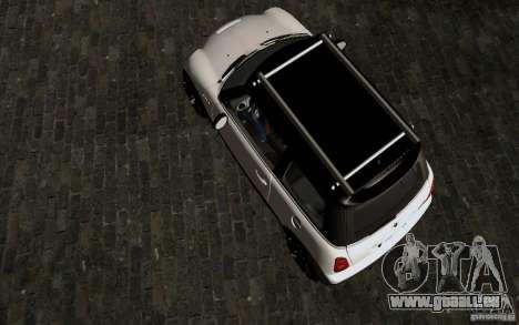 Mini Cooper S Tuned für GTA San Andreas Innenansicht