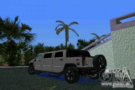 Hummer H2 SUT Limousine pour une vue GTA Vice City de la gauche