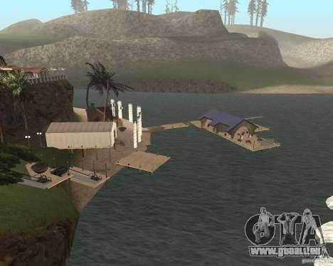 Villa in der Fischerei-Lagune für GTA San Andreas zweiten Screenshot