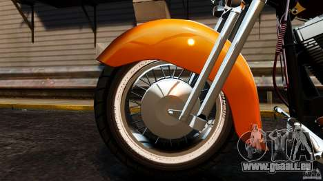 Harley Davidson Fat Boy Lo Vintage für GTA 4 Innenansicht