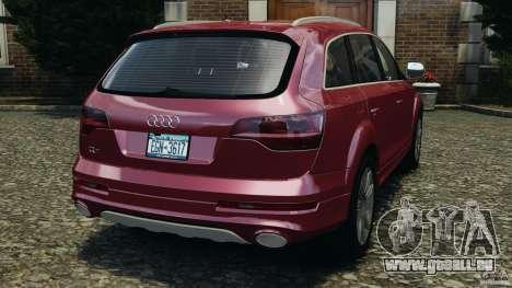 Audi Q7 V12 TDI v1.1 pour GTA 4 Vue arrière de la gauche
